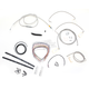 Stainless Braided Handlebar Cable and Brake Line Kit for Use w/15 in. - 17 in. Ape Hangers - LA-8051KT2-16