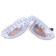 Clear DRL Integrated Turn Signals - MPH-12107CC