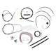 Black Vinyl Handlebar Cable and Brake Line Kit for Use w/15 in. - 17 in. Ape Hangers - LA-8005KT2A-16B