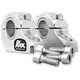 Clear Anodized 1 1/4 in. Pro-Offset Elite Block Risers for 7/8 in.-1 in. Handlebars - 3R-B12POE