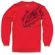Red Primer Long Sleeve Shirt