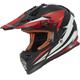 Black/White/Red Fast Race Helmet