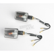 Universal Mini-Stalk Turn Signals - Carbon w/Clear Lens - 25-8109