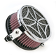Chrome Cross Air Cleaner - 06-0133-02