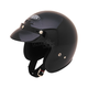 Black Open Face Helmet