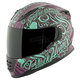 Purple/Teal Black Heart SS1310 Helmet