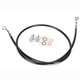 Black Vinyl Coated Stainless Braided Brake Line for Use w/18 in. to 20 in. Ape Hangers - LA-8210B19B