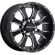 Front/Rear Machined Black Raceline Mamba 12 x 7 Wheel - 570-1506