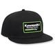 Youth Black Kawasaki Snapback Hat - 19-86112