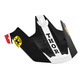 Red/Black Replacement Visor Kit for Verge Pro GP Helmet - 0132-0841