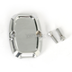 Rear Chrome Beveled Brake Master Cylinder Cover - 03-407
