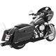 Black True Duals Racing Exhaust System - HD00272