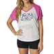 Women's Fuchsia/Gray Transitory Raglan T-Shirt