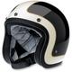 Gloss Black/Vintage White Tracker Bonanza Helmet