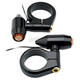 Semi Gloss Black 41mm Vega LED Fork Mount Turn Signals w/ Amber Lens - 05-58-2B