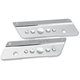Chrome Saddlebag Latch Covers - 3501-0543