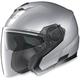 Platinum Silver N40 Jet N-Com Helmet