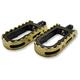 Black BMX/Beartrap Style Footpegs w/Brass Teeth - LA-7205-02B
