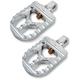 Raw Aluminum Short Serrated Foot Pegs - 08-57-3