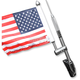 Stainless Steel 13 in. Antenna Flag Mount - RFM-RDGA15