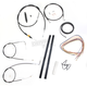 Black Vinyl Handlebar Cable and Brake Line Kit for Use w/18 in. - 20 in. Ape Hangers (w/o ABS) - LA-8210KT2A-19B