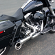 Chrome/Black 2-Into-1 Turnout Exhaust System - HD00509