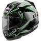 Silver/Green Defiant Asteroid Helmet