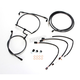 Black Pearl Designer Series Handlebar Installation Kit for use w/12 in.-14 in. Ape Hangers (Non-ABS) - 487741