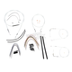 Custom Sterling Chromite II Designer Series Handlebar Installation Kit for Use w/12 in. - 14 in. Ape Hangers - 387241
