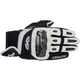 Black/White GP-Air Leather Gloves