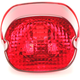 Red Laydown Taillight Lens with Bottom Tag Window - 0902-6321