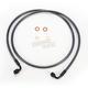 Black Pearl Designer Series 90 Degree Top Angle Custom Single-Disc Front Brake Line - 46258SW