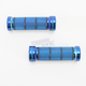 Chrome Blue 7/8 in. Custom Grips - 866CRBL78
