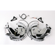 Chrome Brake Rotor Covers with Amber/Amber LED Ring of Fire - 7451