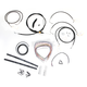 Black Vinyl Handlebar Cable and Brake Line Kit for Use w/18 in. - 20 in. Ape Hangers - LA-8050KT2-19B