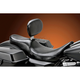 Smooth 2-Up Full-Length Silhouette Seat w/Driver Backrest - LK-847BR