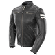 Womens Black/White Classic '92 Leather Jacket