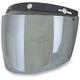 Silver Three-Snap Flip Bubble Shield/Visor - 0131-0080