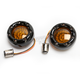 Black Bullet Ringz w/Amber LED Turn Signals - BTRB-A-1157-A