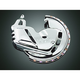 Chrome Brake Rotor Covers with Amber/Amber LED Ring of Fire - 7454