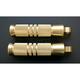 Brass Grooved Footpegs - RP111-KG5