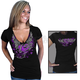Womens Black Official 2012 Sturgis Flying Heart T-Shirt
