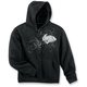 Womens Black Street Angel Zip-Up Hoody