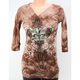 Womens Brown Tie Dye Hoody