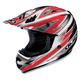 AC-X3 Option Helmet /Adult/Red/Red/Silver/White/Female/Male