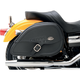 Drifter Rigid-Mount Specific-Fit Teardrop Saddlebags w/Integrated LED Auxiliary Lights - 3501-0615-LEB