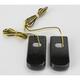 Black LED Fender Strut Lights - Amber LED w/Smoke Lens - SPSL-1B