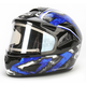 Black/Dark Silver/Blue CL-16SN Shock Helmet w/Electric Shield