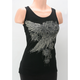 Womens Black Lace Trim Tank