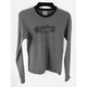 Womens Gray Long Sleeve Gothica T-Shirt